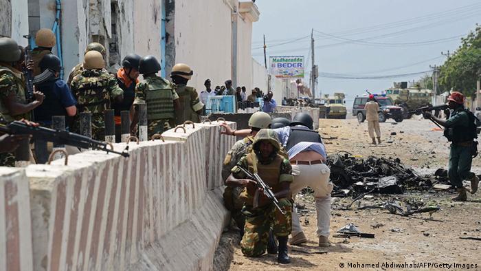 Somalia Mogadischu Vereinte Nationen Gebäude Anschlag