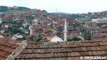Auf dem Foto sind zu sehen: Haüser in Hauptstadt Prishtina die ohne irgendeinen städtebaulichen Plan errichtet worden sind. Das Foto habe ich im Mai 2012 gemacht. Foto: Esat Ahmeti / DW