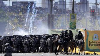 Confed Cup 2013 Proteste Brasilien Fortaleza