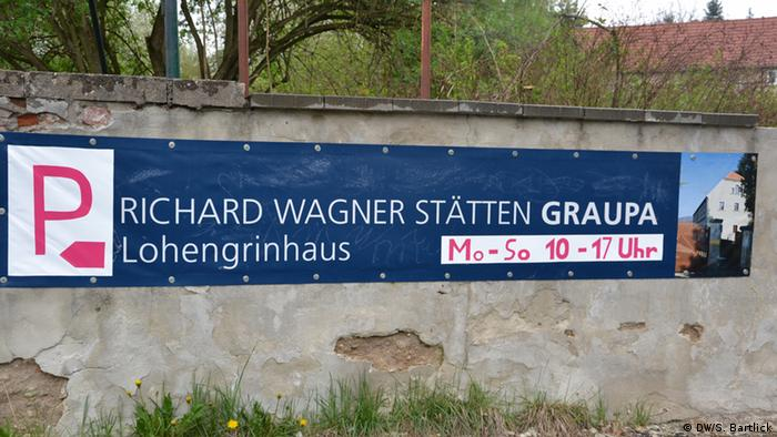 A sign advertising the Wagner house in Dresden (c) DW/S. Bartlick