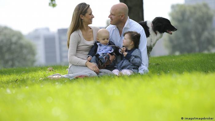 Obiteljski ideal u Njemačkoj - par s dvoje djece