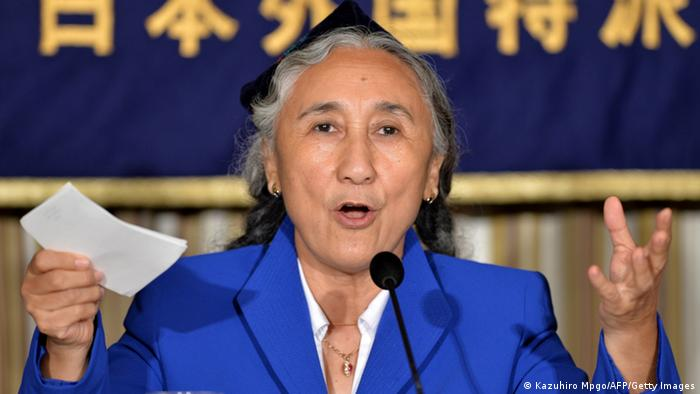 Uighur democracy leader Rebiya Kadeer speaks during a press conference at the Foreign Correspondents Club of Japan in Tokyo on June 20, 2013. (Photo: AFP)
