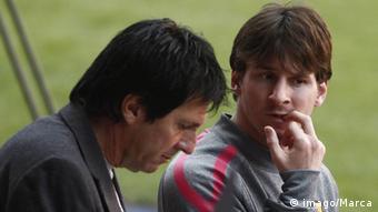 Lionel Messi und Vater Jorge