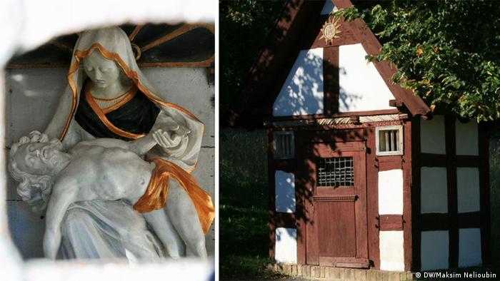Придорожная часовня в Музее под открытым небом в Детмольде