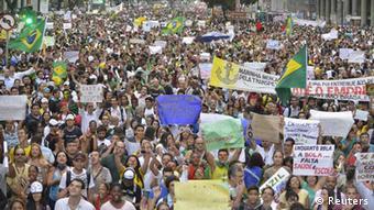 Brasilien / Rio / Protest