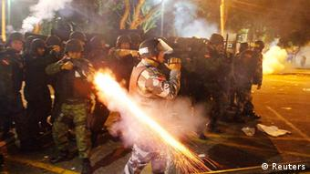 Imprensa alemã destaca a truculência da polícia contra os manifestantes
