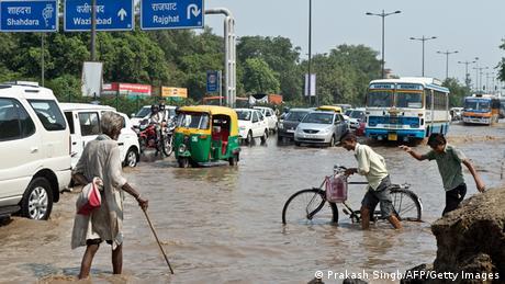 Indien Überschwemmungen Neu Delhi 20.06.2013
