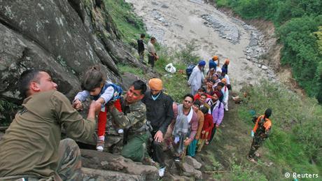 Indien Überschwemmungen Uttarakhand 17.06.2013