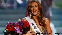 Miss Connecticut USA Erin Brady reacts after being crowned Miss USA during the Miss USA 2013 pageant, Sunday, June 16, 2013, in Las Vegas. (AP Photo/Jeff Bottari)
