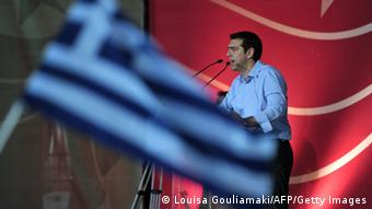 Alexis Tsipras addresses supporters LOUISA GOULIAMAKI/AFP/Getty Images)