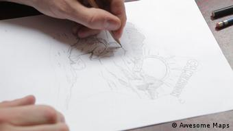 Las ilustraciones de Lars Seiffert se basan en imágenes características de cada país.