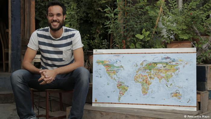 Simon Schütz crea mapas ilustrados temáticos de gran formato, con datos para aventureros.