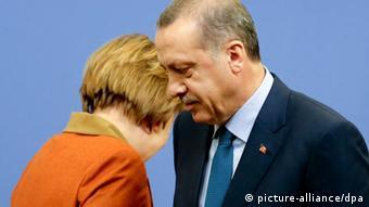 Merkel na Erdogan wakiwa mjini Ankara, Uturuki.
