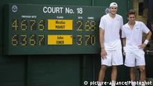 John Isner und Nicolas Mahut 2010 (picture-alliance/Photoshot)