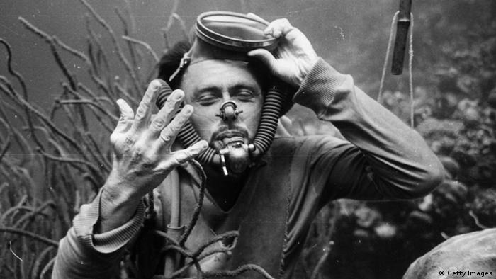 Tauchpionier Hans Hass, Aufnahme aus dem Jahr 1945, Photo by Picture Post/Hulton Archive/Getty Images)