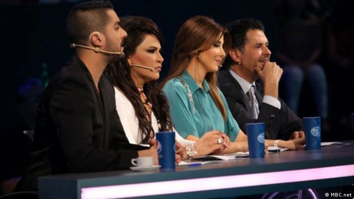 ***ACHTUNG: Bild nur zur Berichterstattung über Arab Idol verwenden!!!*** Auf dem Bild: Die Jury von Arab Idol 2013. Quelle: http://www.mbc.net/ar/programs/arab-idol-s2/photos/live-performance/finals/articles/%D8%B5%D9%88%D8%B1---%D8%A3%D8%AC%D9%88%D8%A7%D8%A1-%D8%A7%D9%84%D8%AC%D9%85%D8%B9%D8%A9-%D8%A7%D9%84%D8%A3%D8%AE%D9%8A%D8%B1%D8%A9-%D9%81%D9%8A-Arab-Idol-%D9%88%D8%A3%D8%AF%D8%A7%D8%A1-%D9%85%D9%85%D9%8A%D8%B2-%D9%84%D9%84%D9%85%D8%B4%D8%AA%D8%B1%D9%83%D9%8A%D9%86.html#19 Rechte: MBC.net