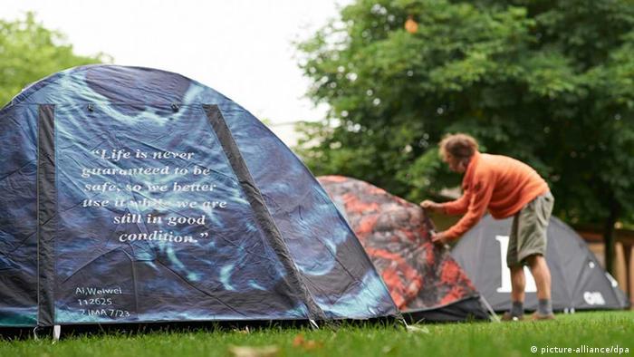 Zelte vom chinesischen Künstler Ai Weiwei
