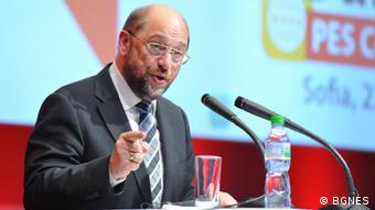 Tagung der Partei der Europäischen Sozialisten in Sofia /EU-Parlamentspräsident Martin Schulz 06/2013 Bild: BGNES
