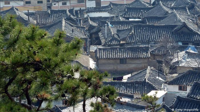 Traditional housing in the old city quarter of Kaesong (Photo: AFP/Getty Images)