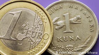 Kovanice od jednog eura i jedne kune