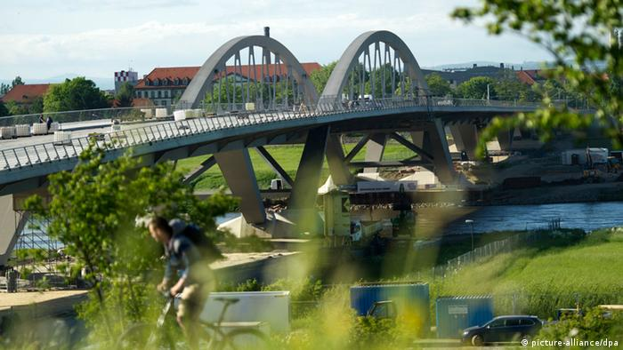 Waldschlößchenbrücke in Dresden (picture-alliance/dpa)