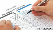 Primeiro voto para o candidato do distrito eleitoral e o segundo voto para a legenda