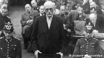 Black and white photo of Friedrich Werner Graf von der Schulenburg during a trial, after which he was executed after a failed Hitler assassination Photo: picture-alliance/dpa