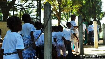 School children visiting Abidjan Zoo. Photo: Tamasin Ford