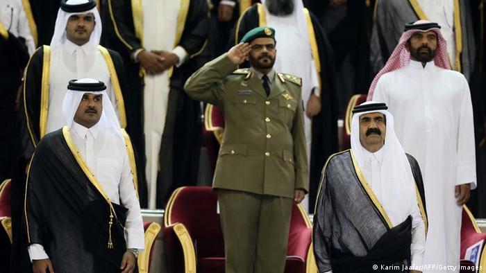 Hamad bin Khalifa al-Thani und Tamim bin Hamad al-Thani Katar (Karim Jaafar/AFP/Getty Images)