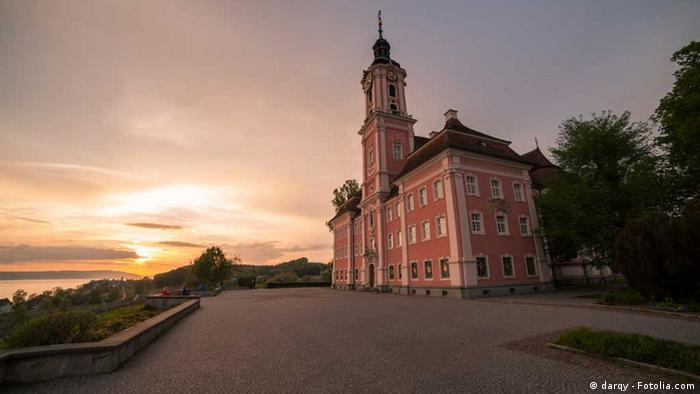 Basilica Birnau, the pilgrimage church on Lake Constance at sunset (darqy - Fotolia.com)