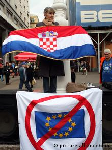 Anti -EU Proteste Kroatien