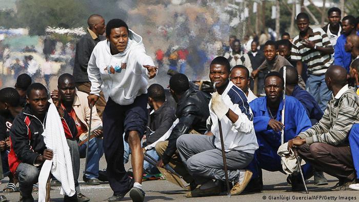 Протесты против полиции в ЮАР, 2008 год