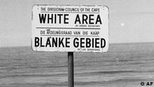 Südafrika Apartheid Schild White Area