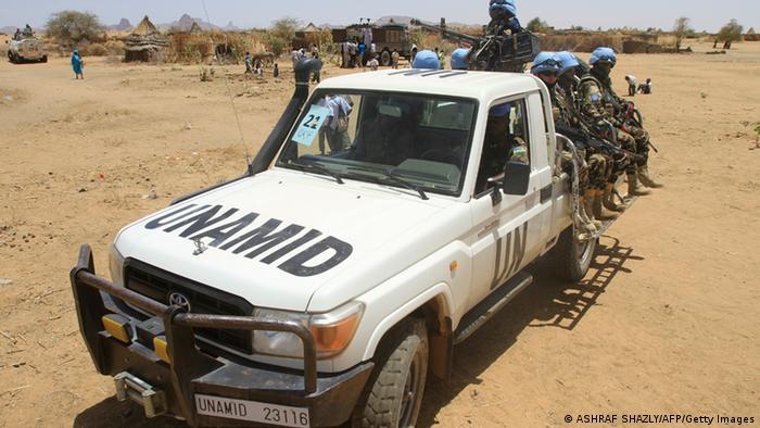 A UNAMID vehicle