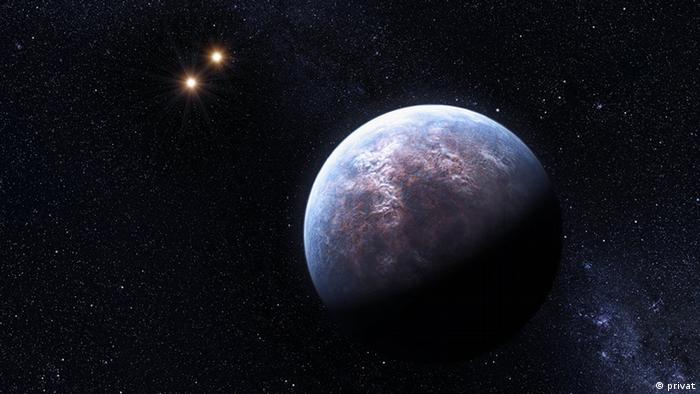 A visualisation of one of the planets found using Kepler