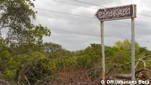 Straßenschild zum Pande Gasfeld