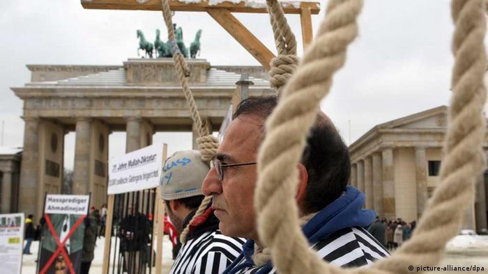 تجمع ایرانیان برلین در مخالفت با اعدام در ایران، زمستان ۲۰۱۰
