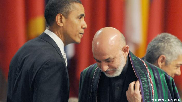 US President Barack Obama (L) and Afghan President Hamid Karzai (Photo: Rainer Jensen dpa +++(c) dpa - Bildfunk+++)