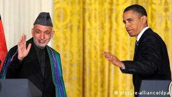 Afghan Presiden Hamid Karzai and US Prsident Barack Obama (Photo: dpa - Bildfunk)
