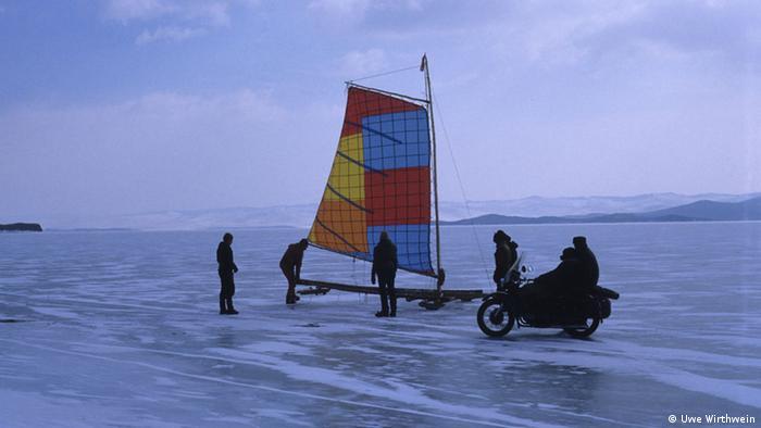 На замерзшем Байкале. 1988 г.
