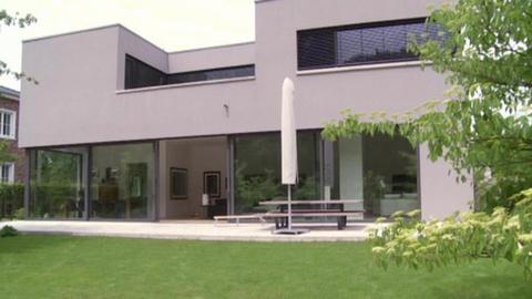 Moderne Bauhaus-Villa in Düsseldorf, Deutschland