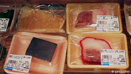 Different sorts of whale meat (Photo: Wikipedia)