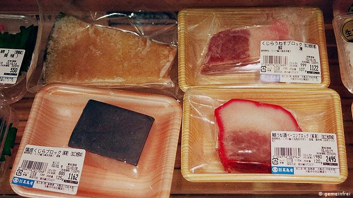 Whale meat in Japanese market