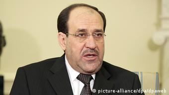 [16083351] Obama trifft irakischen Ministerpräsidenten Iraqi Prime Minister Nouri Al-Maliki during a meeting with US President Barack Obama (unseen) in the Oval Office of the White House, Washington, DC, 20 October 2009. Al-Maliki is on an official visit to the US. Photo: Aude Guerrucci/Consolidated +++(c) dpa - Report+++