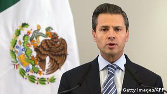 Mexican President Enrique Pena Nieto speaks during a press conference in Central London on June 18, 2013, following the G8 summit in Northern Ireland. Pena Nieto said that he joined G8 leaders in their decleration to crack down on the 'scourge' of illegal tax evasion. AFP PHOTO/JUSTIN TALLIS (Photo credit should read JUSTIN TALLIS/AFP/Getty Images)