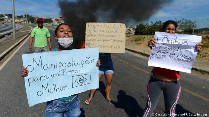 Brasilien Confed Cup Protest