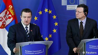 Brüssel EU Kommission Ivica Dacic Jose Manuel Barroso