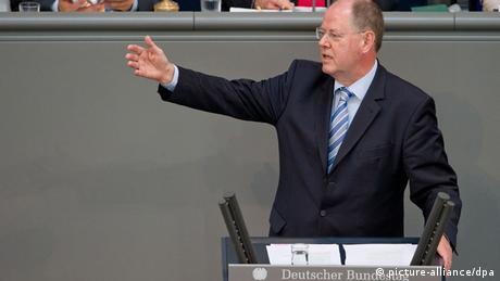 Peer Steinbrück im Bundestag (Foto: dpa)