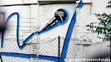#3252022 - micro tagué sur un mur © Ignatius Wooster Mikrofon Graffiti
