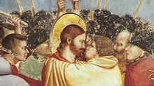 Ausschnitt Gemälde Giotto Kuss des Judas